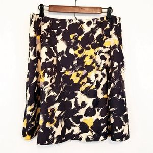 The Limited Leopard Abstract Silky A-Line Skirt